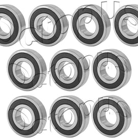 10 Pcs Premium 6906 2RS ABEC3 Rubber Sealed Deep Groove Ball Bearing 30x47x9mm