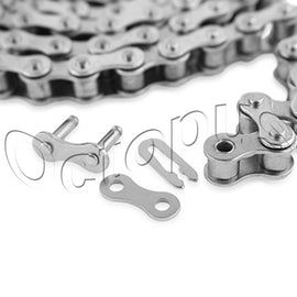 #40NP Nickel Plated Roller Chain 10FT Roll Corrosion Resistant Nickel W/1 LINKS