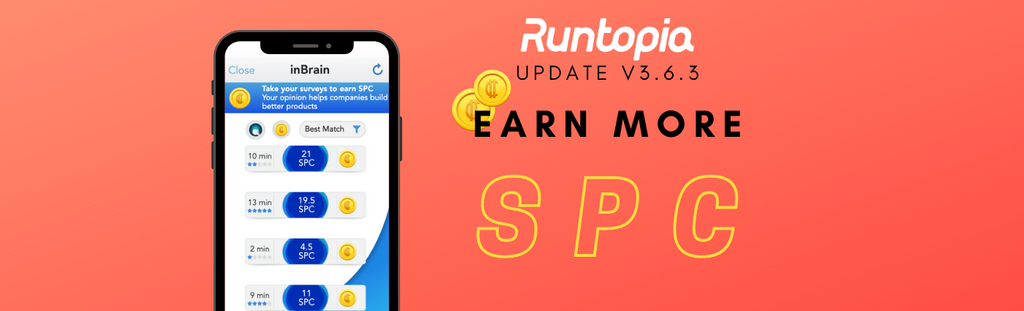Earn more SPC on Runtopia