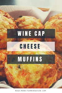 Wine Cap Cheese Muffins
