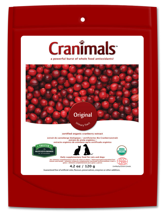Cranimals Original Urinary Tract Pet Supplement 120 G/4.2 Oz Bag