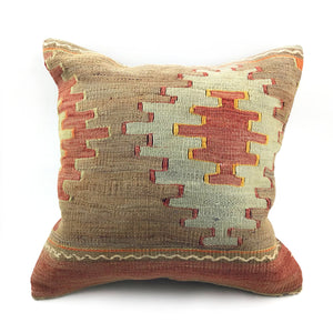 "16""x16"" Vintage Kilim Pillow with Insert"
