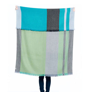 Reversible Plaid Alpaca Throw (more colors)