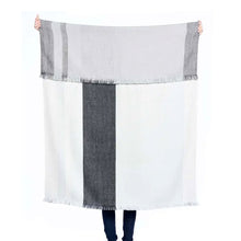 Load image into Gallery viewer, Reversible Plaid Alpaca Throw (more colors)
