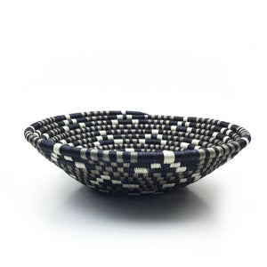 Black, White, Silver Statement Basket