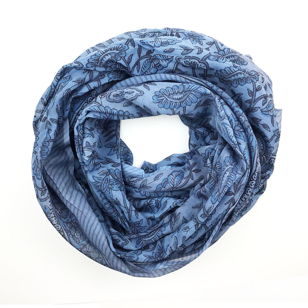 Organic Cotton Block Print Scarf (more colors)