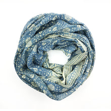 Load image into Gallery viewer, Organic Cotton Block Print Scarf (more colors)