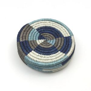 Hand-Woven Coasters - Set of 4