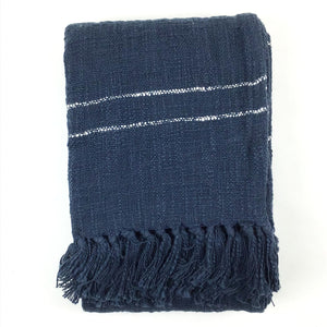 Hand-Woven Striped Throw
