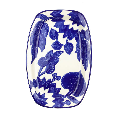 BIST: Blue and White Ceramic Platter