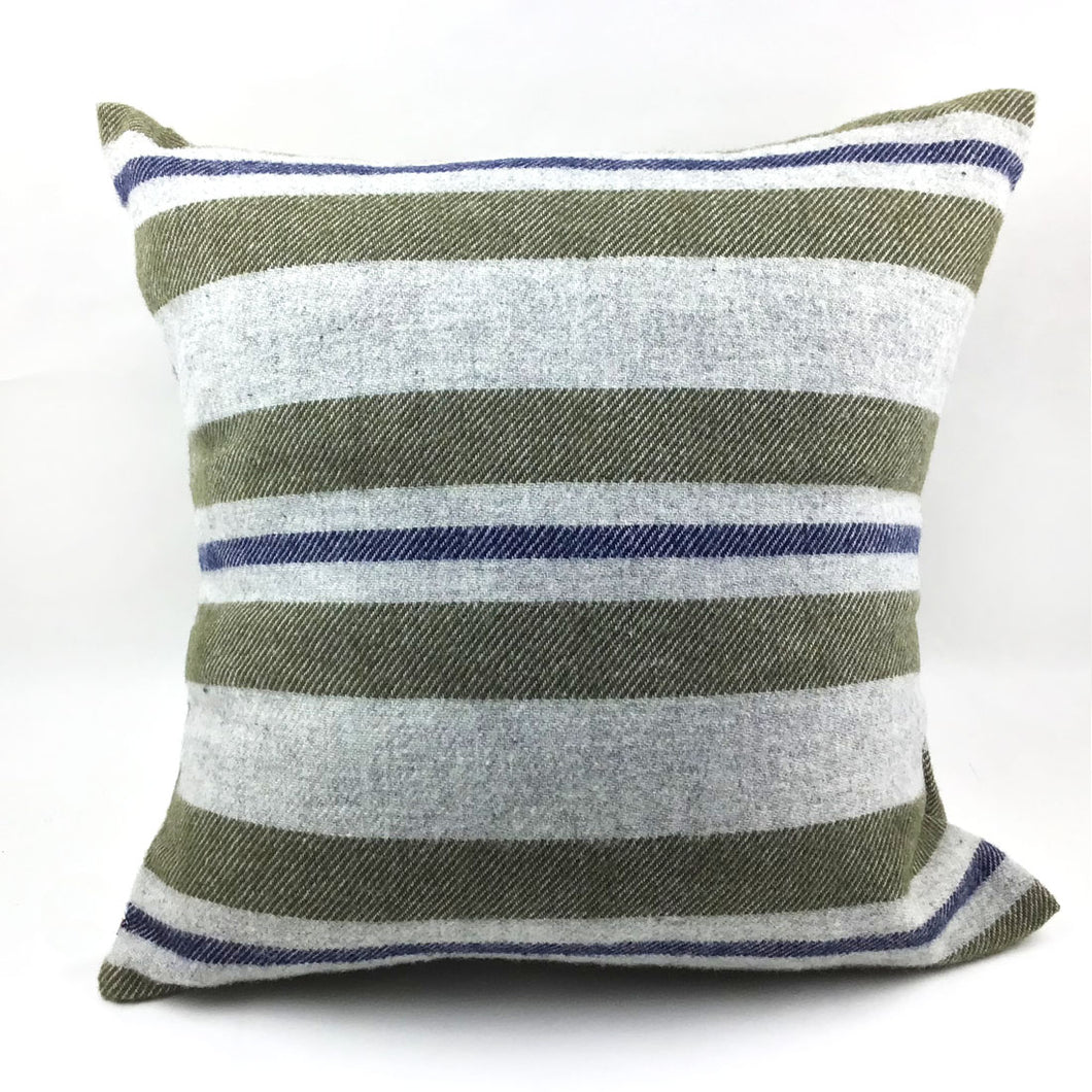 Faribault Olive Cabin Pillow with Insert