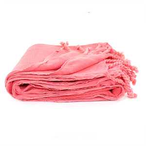 Stonewashed Coral Turkish Towel