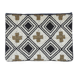 Beaded Cross Clutch