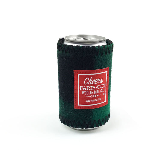 Faribault Buffalo Check Coozie - Green