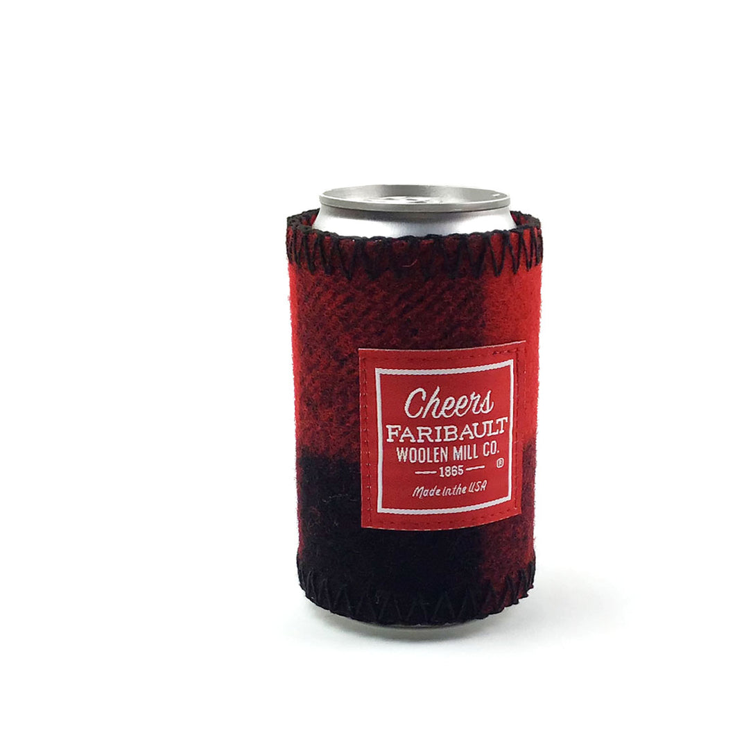 Faribault Buffalo Check Coozie - Red