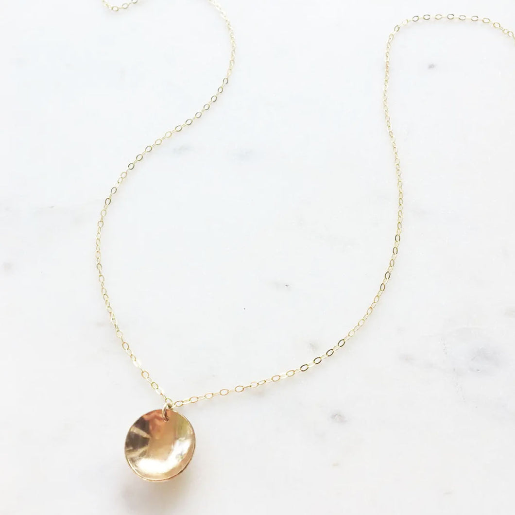 Gold Hammered Cove Necklace