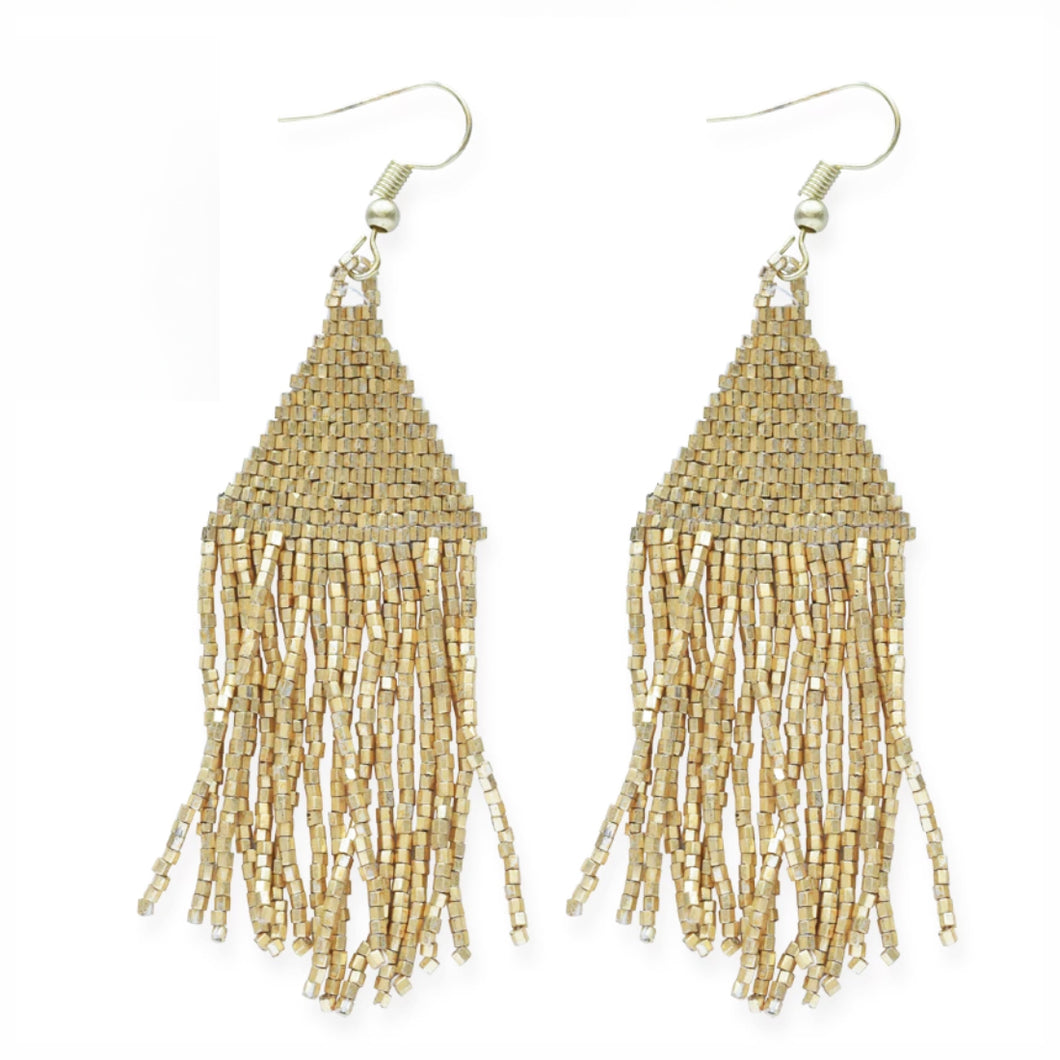 Gold Fringe Luxe Earrings