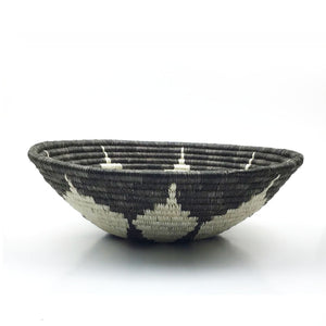 Gray Flower Bowl Basket