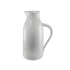 Gray Ceramic Pitcher