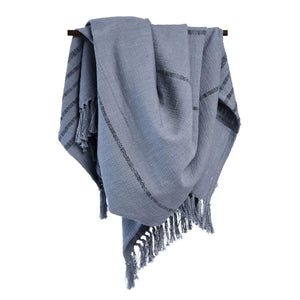 Handloomed Striped Throw - Gray