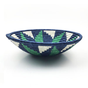 Green Blue Statement Bowl Basket
