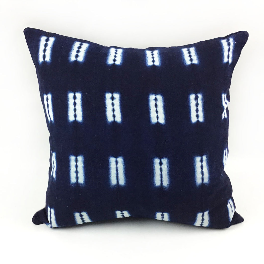 Hand-Dyed Indigo Pillow with Insert
