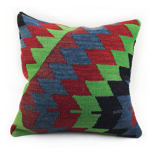 "16""x16"" Vintage Kilim Pillow with Insert - #2"