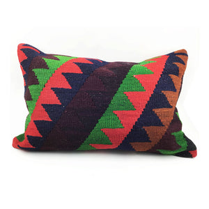 "16"" x 24"" Vintage Kilim Pillow with Insert - #6"