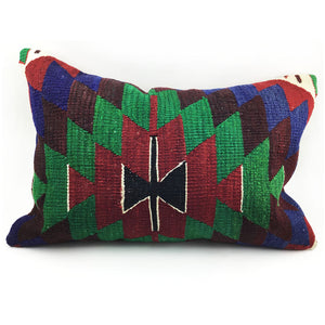 "16"" x 24"" Vintage Kilim Throw Pillow with Insert - #8"