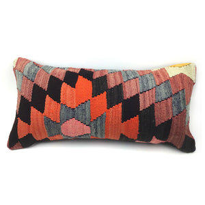 "12"" x 24"" Vintage Kilim Pillow with Insert"