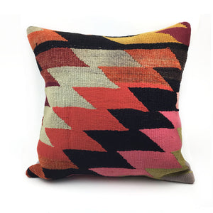 "20"" x 20"" Vintage Kilim Throw Pillow with Insert - #25"