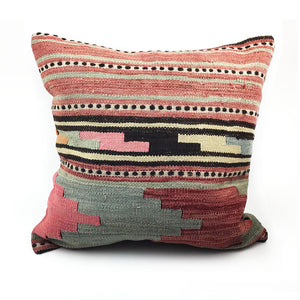 "20"" x 20"" Vintage Kilim Throw Pillow with Insert - #26"