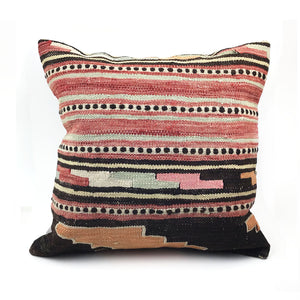 "20"" x 20"" Vintage Kilim Throw Pillow with Insert - #21"