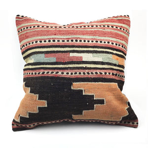 "20"" x 20"" Vintage Kilim Throw Pillow with Insert - #27"