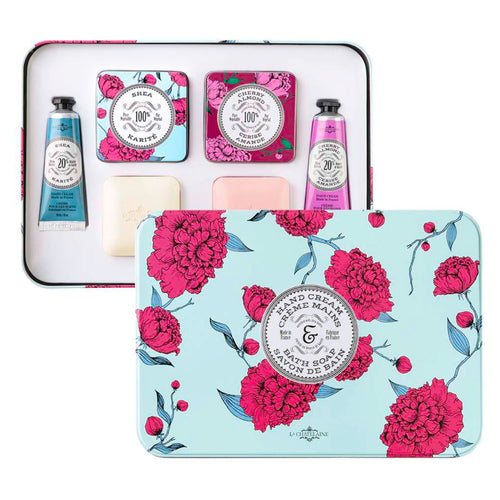 La Chatelaine Shea & Cherry Almond Essentials Gift Set