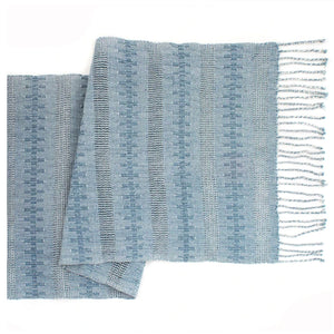 Handwoven Guatemalan Table Runner - Light Blue