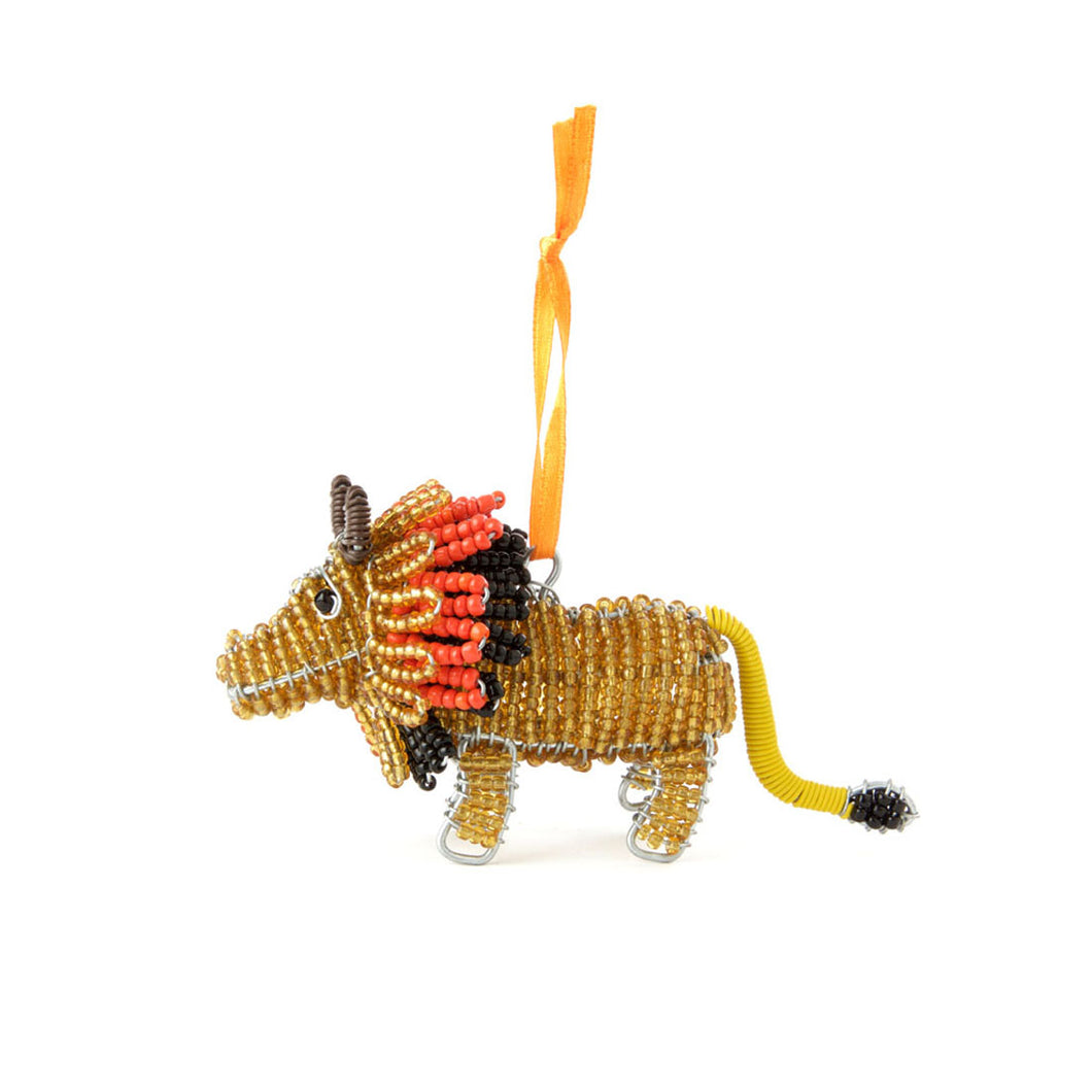 Handmade Beaded Lion Ornament