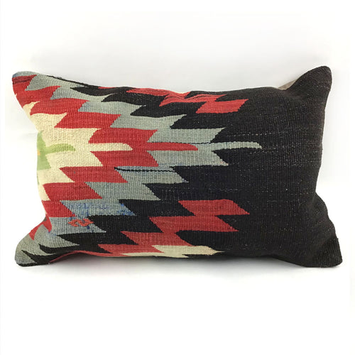 Vintage Kilim Lumbar Pillow with Insert - #4