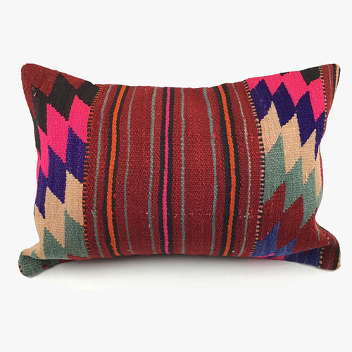 Vintage Kilim Lumbar Pillow with Insert - #5
