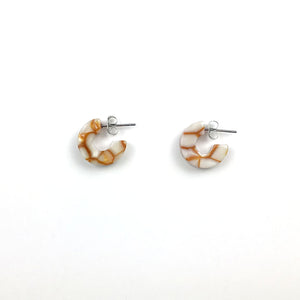Mini Marble Hoop Earrings - more colors