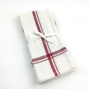 Malabar Hand-loomed Napkins - Red - Set of 4