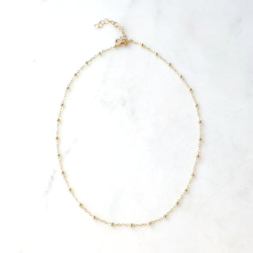 14K Gold Fill Beaded Choker