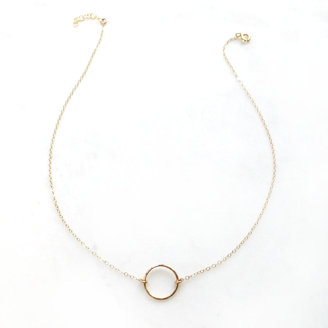 14K Gold Fill Eternity Necklace