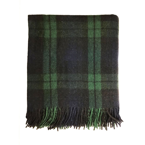 Wool Plaid Wrap / Lap Blanket - more colors