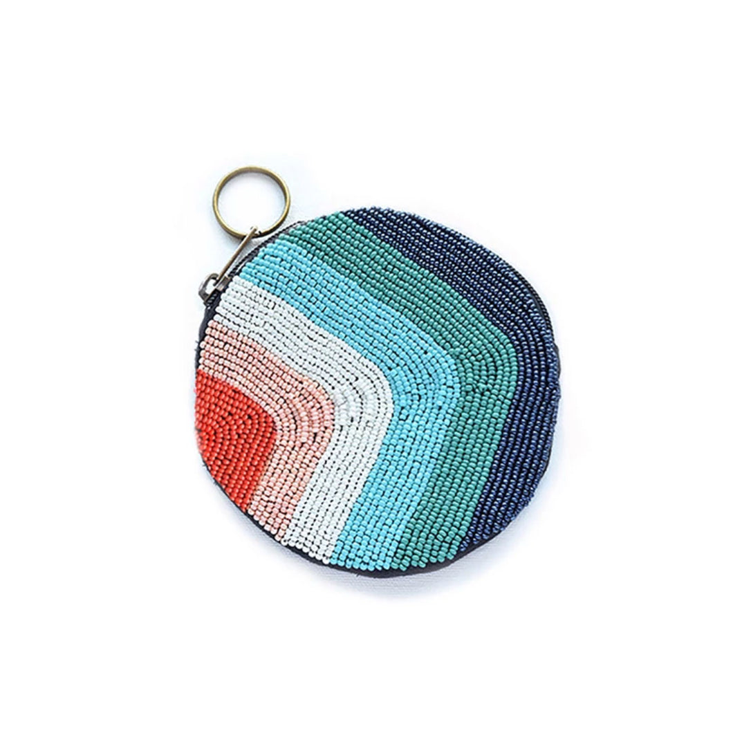 Beaded Rainbow Coin Purse