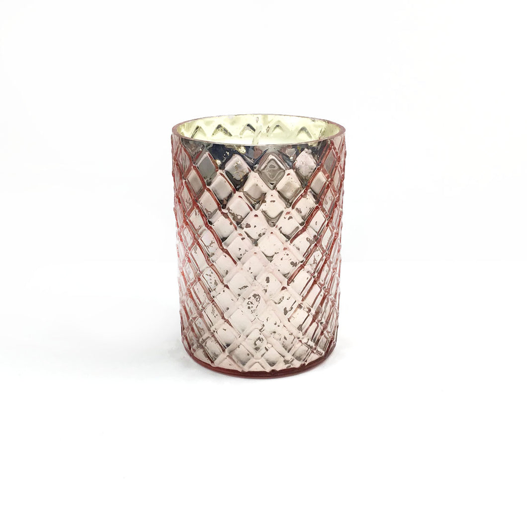 Rose Mercury Glass Soy Candle