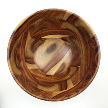 Load image into Gallery viewer, Hand-Carved Rosewood Salad Bowl
