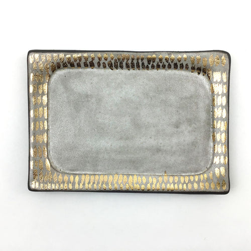 Silver and Gold Dash Vanity Tray