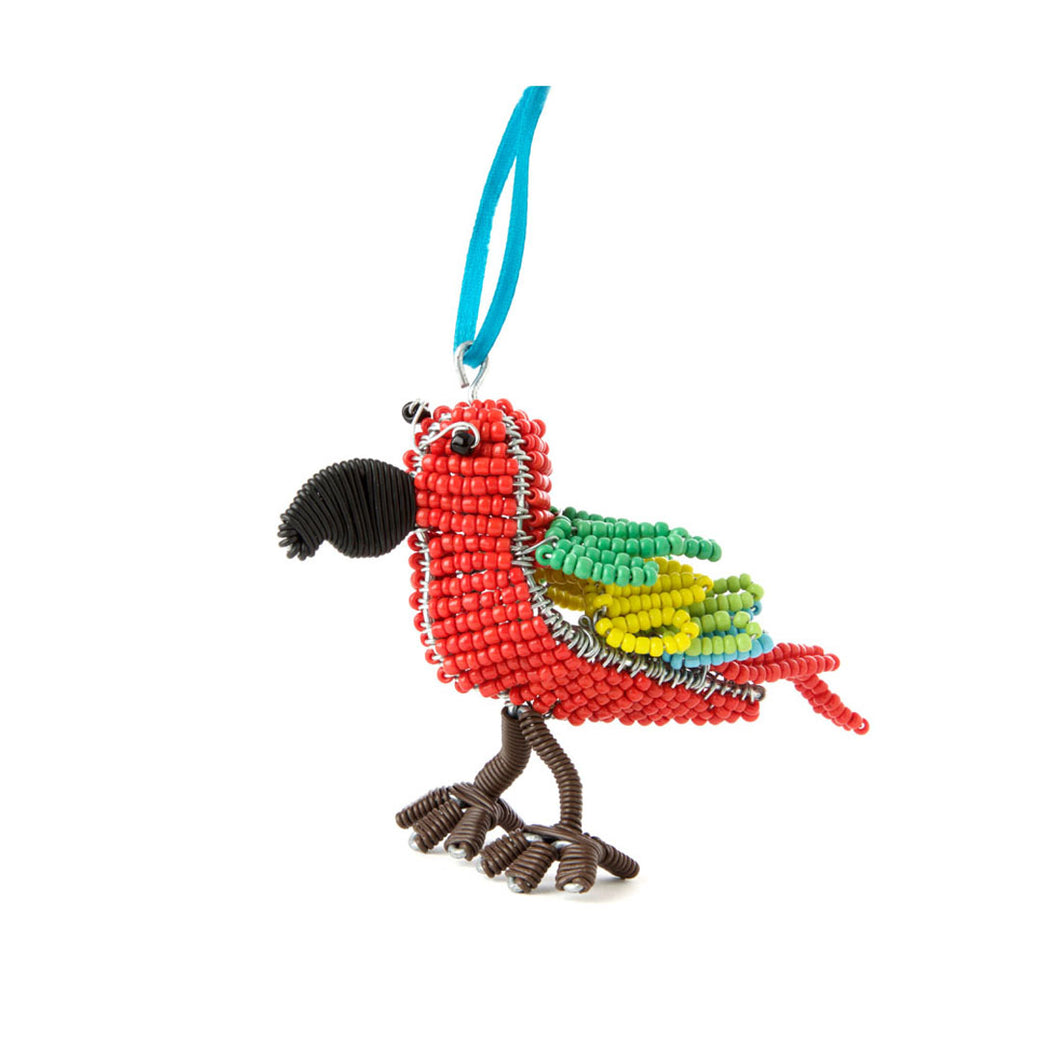Handmade Beaded Toucan Ornament