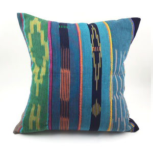 "18"" Vintage African Throw Pillow with Insert"